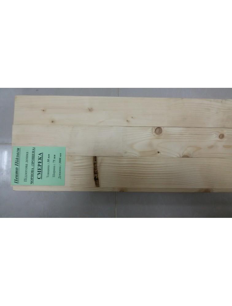 Підлогова дошка смерека чорнова (зрощена)