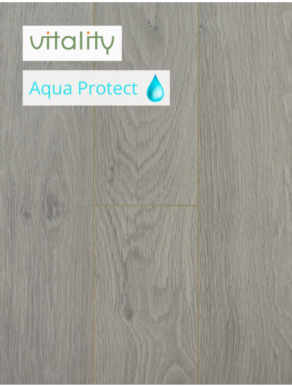 Ламінат Vitality Style Aqua Protect 4V Дуб Гірський Сірий 8 мм / 32 клас