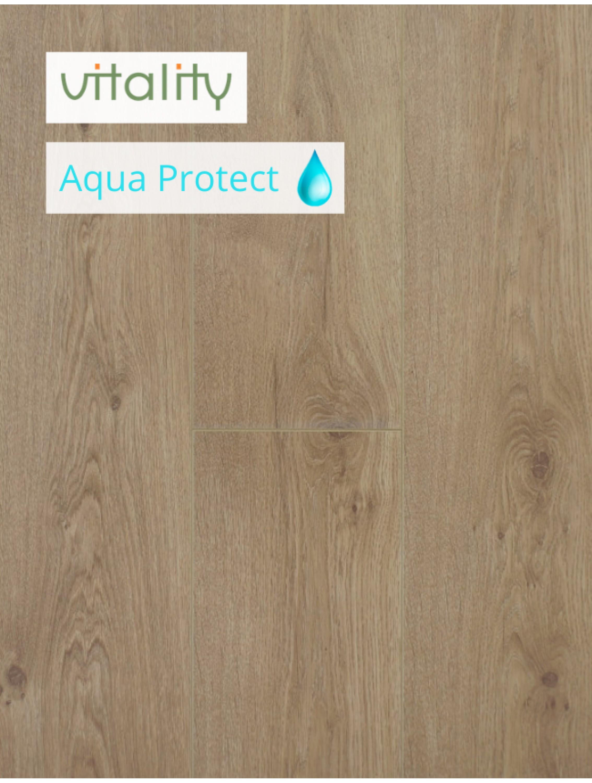 Ламінат Vitality Style Aqua Protect 4V Дуб Натуральний Бежевий 8 мм / 32 клас