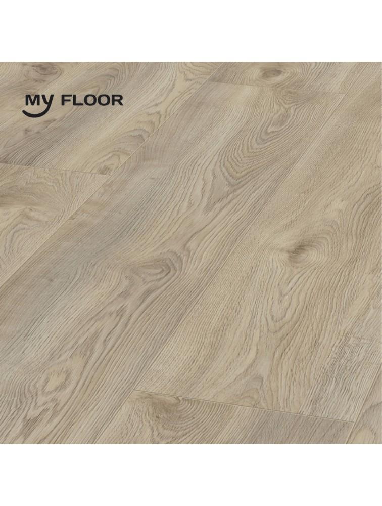 Ламінат My Floor Residence ML1019 Дуб Макро Світло Сірий 10 мм/ 33 клас