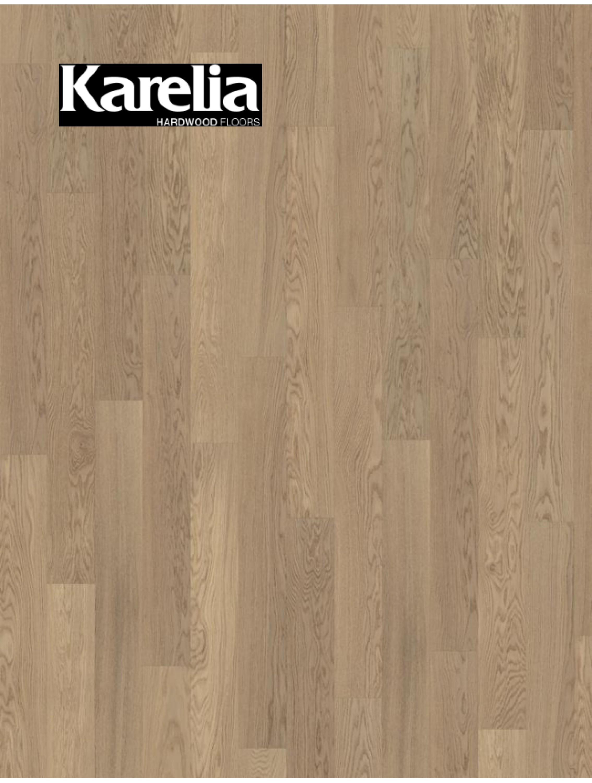 Однополосная паркетная доска Karelia ДУБ STORY 138 TENDER WHITE