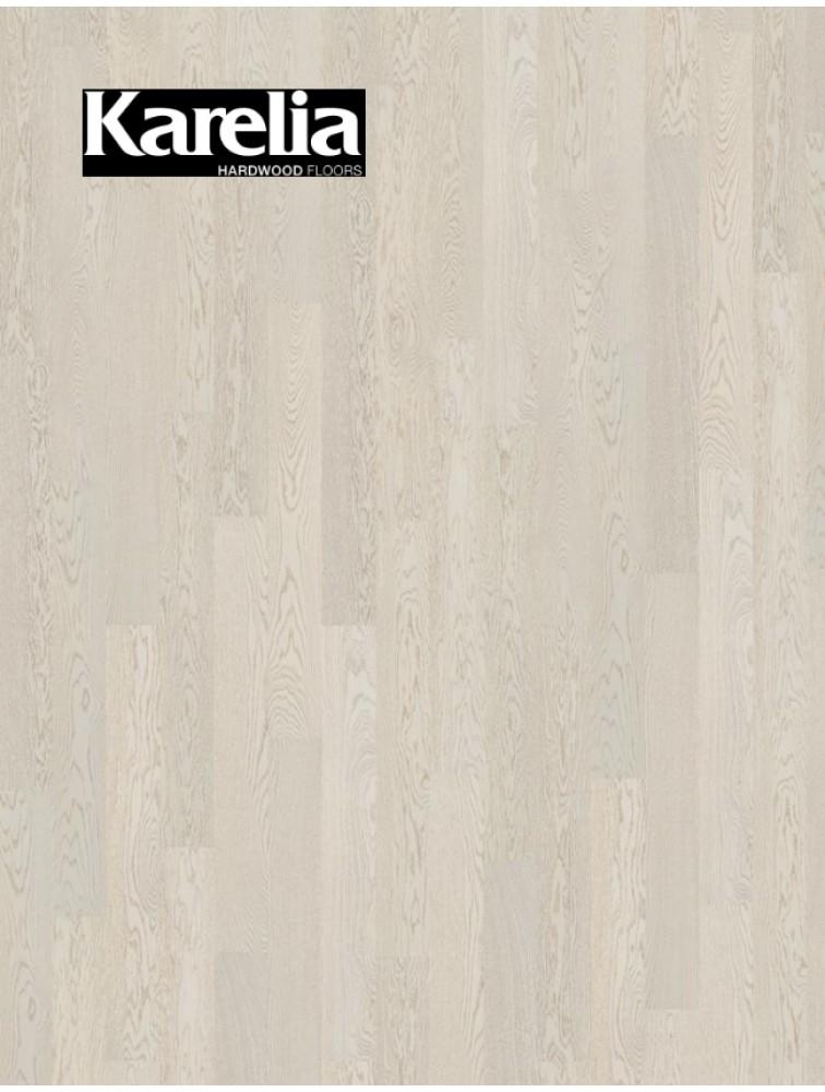 Однополосная паркетная доска Karelia ДУБ STORY 138 POLAR WHITE