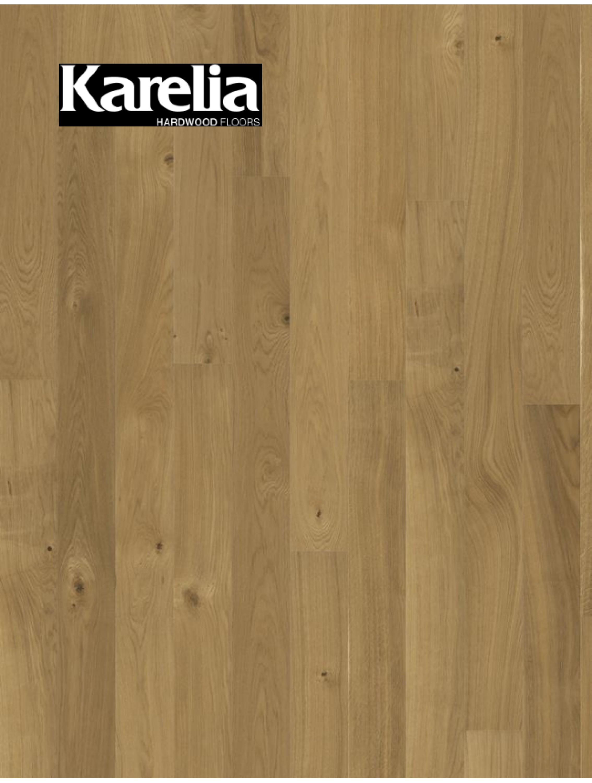 Однополосная паркетная доска Karelia ДУБ STORY 138 TRUE MATT