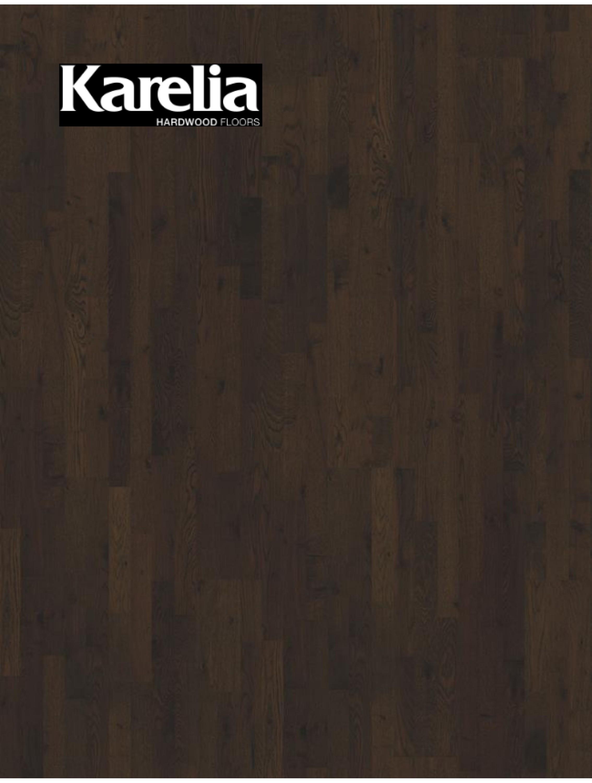 Трехполосная паркетная доска Karelia ДУБ BARREL BROWN MATT 3S