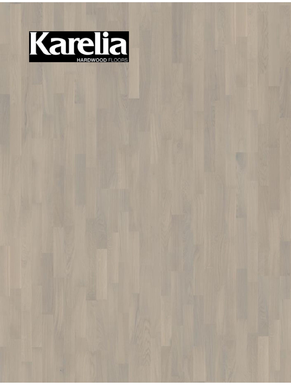 Трехполосная паркетная доска Karelia ДУБ SOFT WHITE MATT 3S